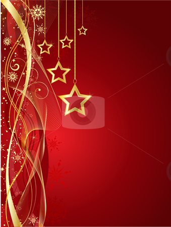 Christmas star background stock vector clipart, Decorative Christmas star background by Kirsty Pargeter