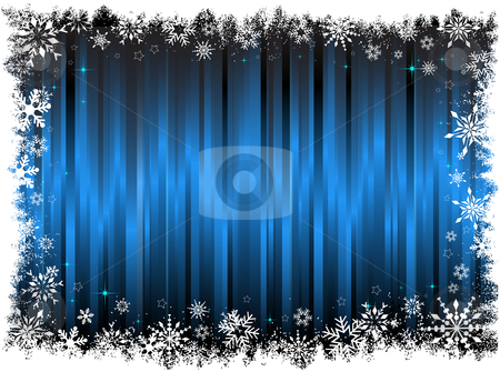 Snowflake background stock vector clipart, Decorative snowflake background by Kirsty Pargeter