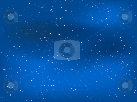 Starry night sky stock vector clipart, Starry sky at night by Kirsty Pargeter