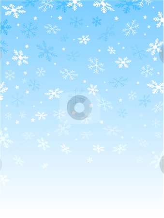 Snowflakes and stars stock vector clipart, Background of falling snowflakes and stars by Kirsty Pargeter
