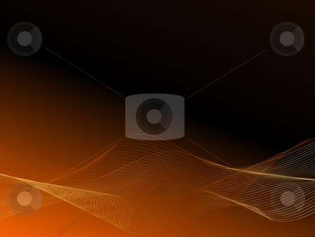 Golden flow stock vector clipart, Background of flowing lines by Kirsty Pargeter
