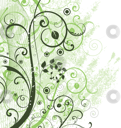 Floral grunge stock vector clipart, Floral grunge background by Kirsty Pargeter