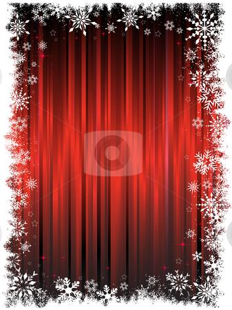 Grunge snowflake background stock vector clipart, Decorative snowflake background by Kirsty Pargeter