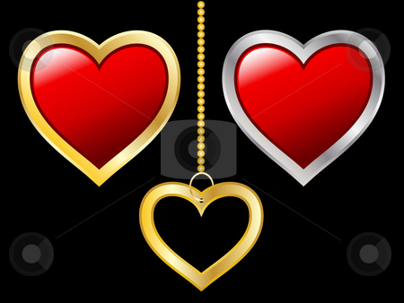Heart icons stock vector clipart, Various heart icons by Kirsty Pargeter