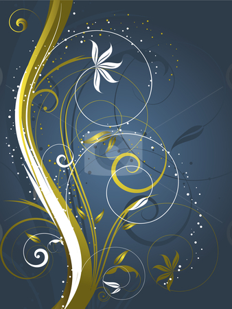 Decorative abstract stock vector clipart, Decorative abstract background by Kirsty Pargeter