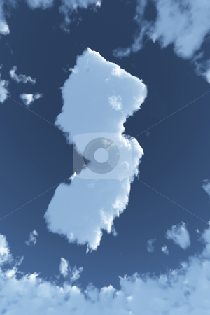 New Jersey in Clouds stock photo, The shape of the state of New Jersey in clouds. by Allan Tooley