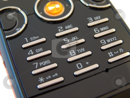 Mobile phone buttons stock photo, Front view of modern mobile phone buttons by Sergej Razvodovskij