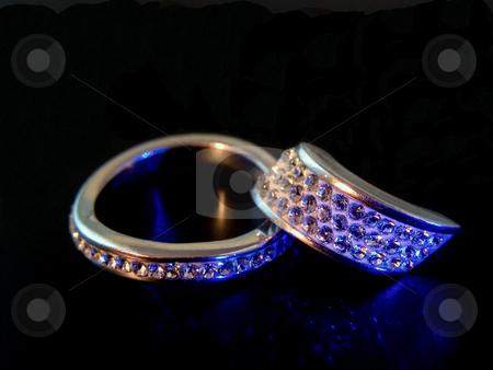 Jewelry stock photo, Precious bright jewelry on the black with reflection by Sergej Razvodovskij