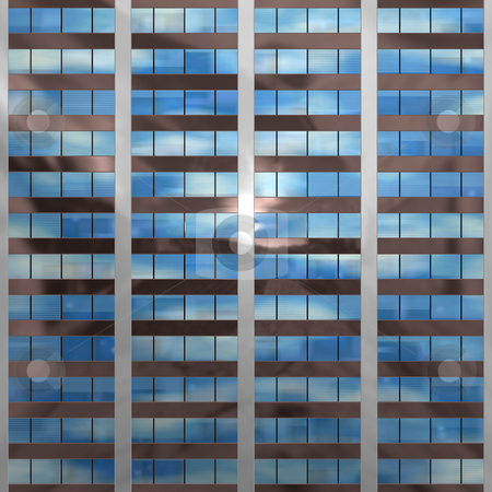 Seamless windows stock photo, An illustration of a block of office windows that will tile seamlessly by Norma Cornes