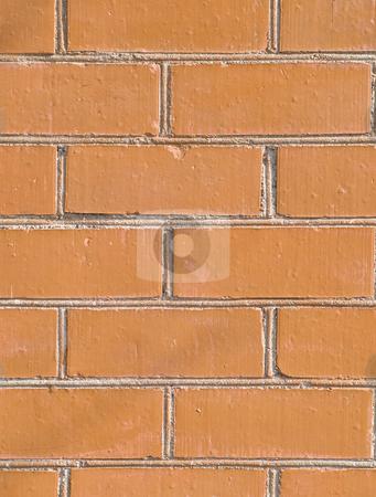 Brick wall stock photo, The urban build red brick wall background by Sergej Razvodovskij