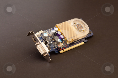 Low-profile card stock photo, Low-profile (half-height) video card.These cards may be known by other names such as