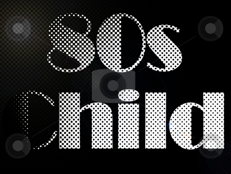 Psychodelic 80s Child LED Light Text stock photo, Psychodelic 80s Child LED Light Text by Robert Davies