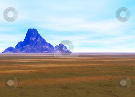 Distant Mountain on Horizon Landscape stock photo, Distant Mountain on Horizon Landscape by Robert Davies
