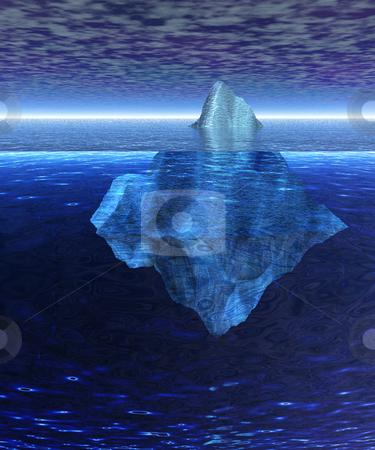 Beautiful Full Floating Iceberg in the Open Ocean with Horizon stock photo, Beautiful Full Floating Iceberg in the Open Ocean with Horizon by Robert Davies