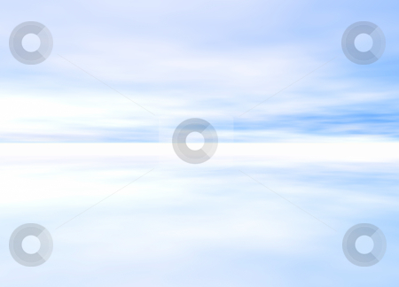 3d Rendered Distant Skyscape stock photo, 3d Rendered Distant Skyscape Horizon by Robert Davies