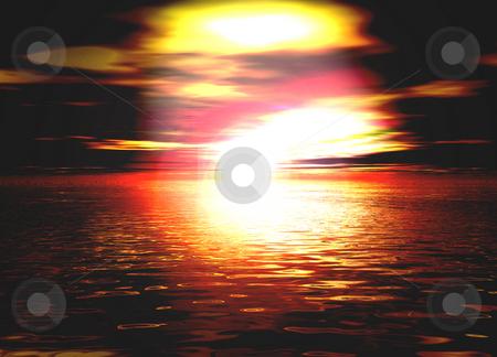 Beautiful Romantic Orange and Red Sunset Sunrise Illustration stock photo, Beautiful Romantic Orange and Red Sunset Sunrise Illustration by Robert Davies