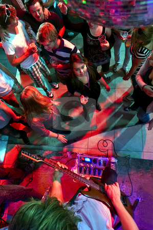 Nightclub stock photo, People enjoying themselves in a nightclub with live music by Corepics VOF