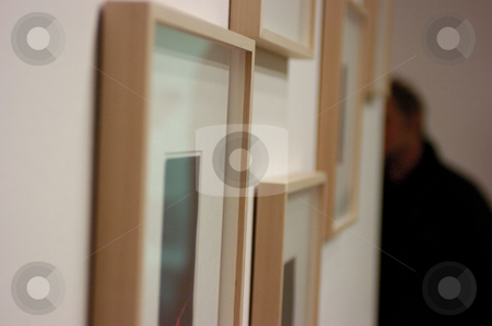 Pictures stock photo, Framed pictures at gallery by Andreas Brenner