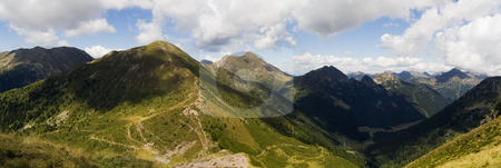 Alps panorama stock photo, Panorama of the Italian Alps from the top of a peak by Alessandro Rizzolli