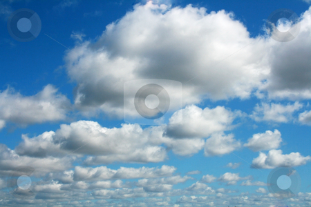 Blue cloudy sky stock photo, Blue and cloudy beautiful sky by Marc Torrell