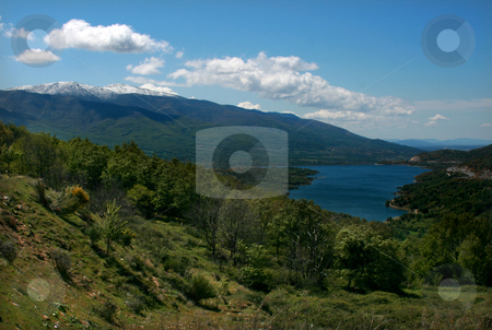 Lake stock photo, Lake and snowed mountain in spain by Marc Torrell