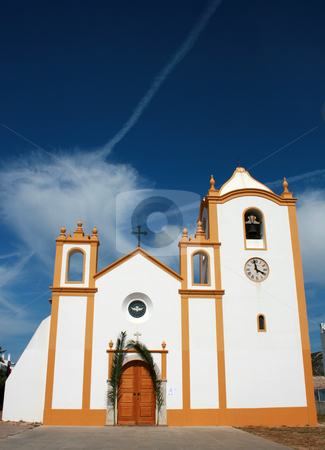 Church stock photo, Portuguese seaside church by Marc Torrell