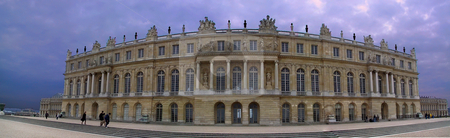 Palace of Versailles Panorama stock photo, Chateau de Versailles, France by Thomas Marchessault