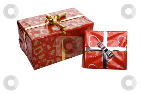 Present stock photo, Red isolate present for somebody who love by Marc Torrell