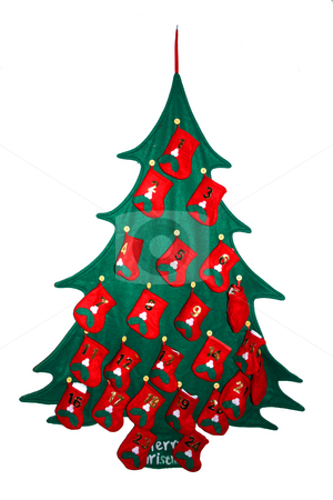 Tree stock photo, Isolate presents tree as a december calendar by Marc Torrell