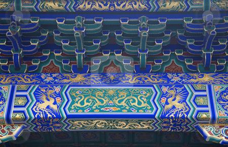 Dragon Phoenix Details Temple of Heaven Beijing China stock photo, Dragon Phoenix Details Temple of Heaven Beijing China by William Perry