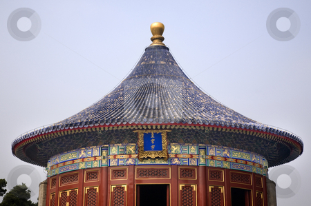 Imperial Vault Temple of Heaven Beijing China stock photo, Imperial Vault Temple of Heaven Beijing China Details by William Perry