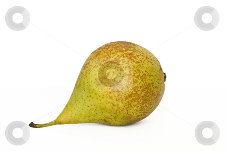 Pear stock photo, Single ripe pear conference isolated on white background by ANTONIO SCARPI