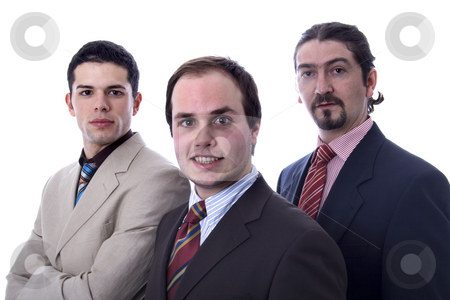 Man stock photo, Young business men white isolate by Marc Torrell