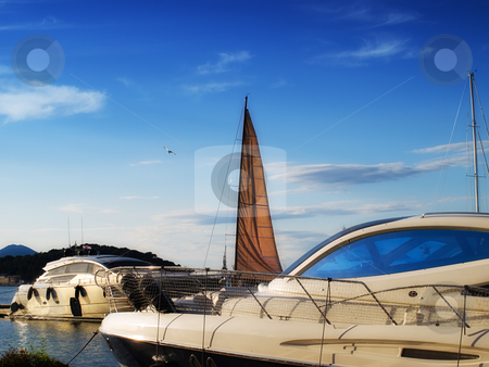 Nautical tourism stock photo, Usual scene of  sailing destinations across the Adriatic sea. by Sinisa Botas