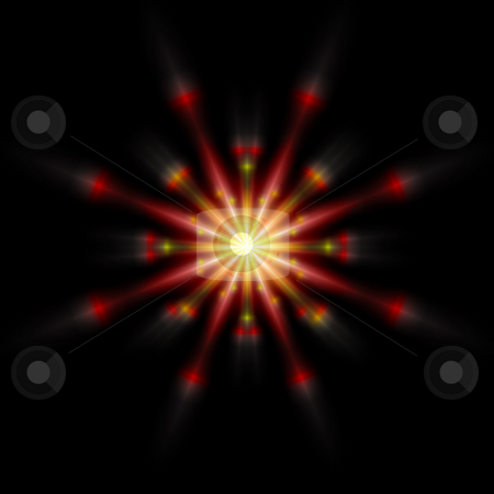 Sparkle Burst stock photo, Sparkles burst forth from a central point creating a dramatic effect against a black background. by Karen Carter