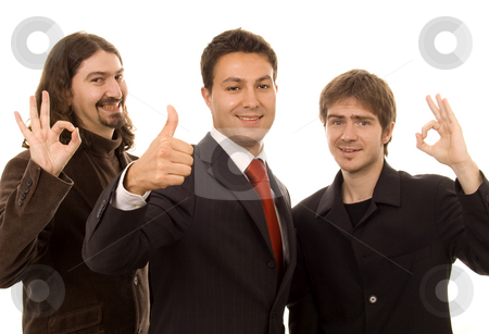 Ok sign stock photo, Three business men with ok signs by Marc Torrell