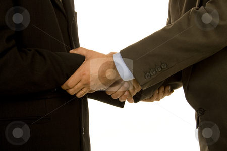 Shaking stock photo, Shaking hands close business by Marc Torrell