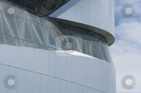 Detail shot of the Mercedes-Benz Museum in Stuttgart stock photo, Detail shot of the Mercedes-Benz Museum in Stuttgart by Andreas Brenner
