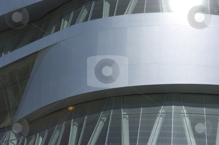 Mercedes-Benz museum windows stock photo, Detail of the Mercedes-Benz museum stuttgart showing close-up of windows and metal plates by Andreas Brenner