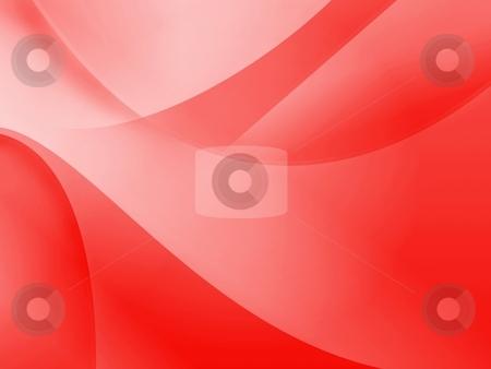 Red Wallpaper stock photo, Red background illustration of flows for wallpaper. by Henrik Lehnerer