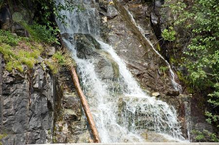 Gorgeous Mountain Waterfall stock photo, Gorgeous nature shot of a mountain waterfall. by Valerie Garner