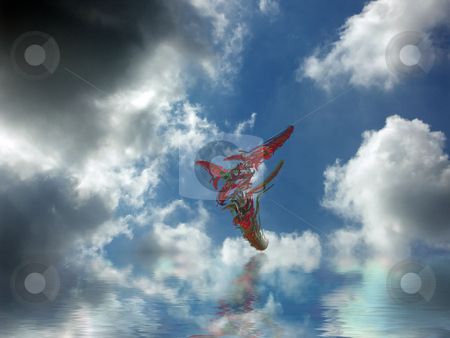 Dreaming stock photo, Flying fractal by Keimpe Roedema