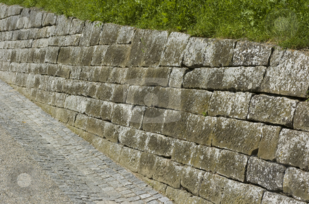Old wall stock photo, Old stone wall by Andreas Brenner