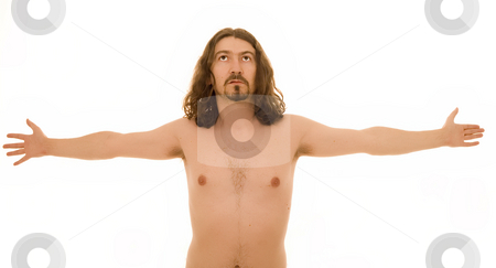 Nude man stock photo, Cross nude man by Marc Torrell