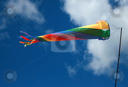 Colors and wind stock photo, Colored plastic toy on the windly sky by Marc Torrell