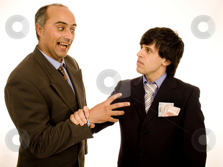 Business men stock photo, Stolen money picture from a business men by Marc Torrell