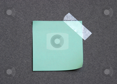 Empty note pad stock photo, Empty note pad with sticky tape by Dragana Jokmanovic