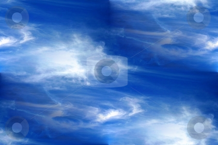 Seamless Background Sky stock photo, Seamless background or wallpeper with a cloudy sky. by Henrik Lehnerer