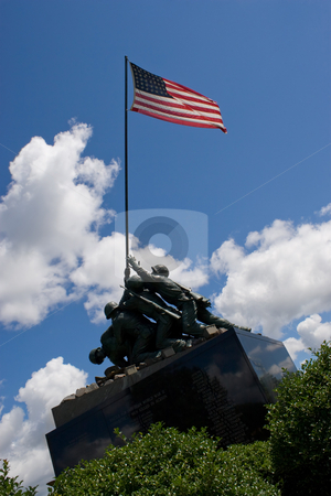 Iwo Jima Memorial stock photo, Detail of the Iwo Jima Memorial Statue located in New Britain Connecticut. by Todd Arena