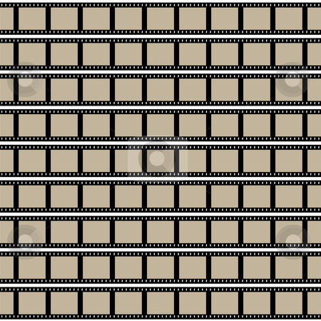 Films Strips stock photo, Film strips background design with lots of empty frames. by Todd Arena